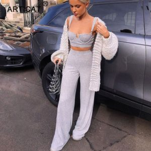 Articat-White-Two-Piece-Set-Women-Knitted-Tracksuit-Sleeveless-Strapless-Crop-Top-And-Pants-Sexy-2-1