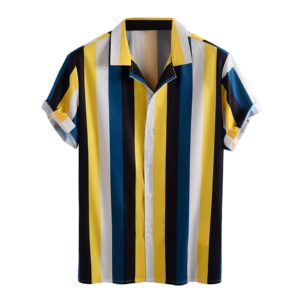 Men-Striped-Printed-Shirt-Plus-Size-Short-Sleeve-Shirts-Breathable-camisa-Turn-Down-Collar-Loose-Casual-1