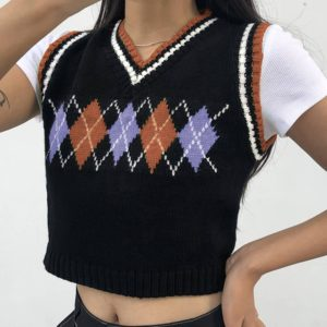 Women-Plaid-Knitted-Sleeveless-Tank-Tops-V-Neck-Casual-Cute-Cropped-Streetwear-Preppy-Clothes-Knitwear-Sweater-1